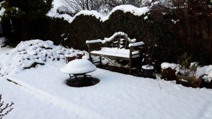 Het levert in januari 2017 een mooi plaatje op, toen er een dik pak sneeuw viel.